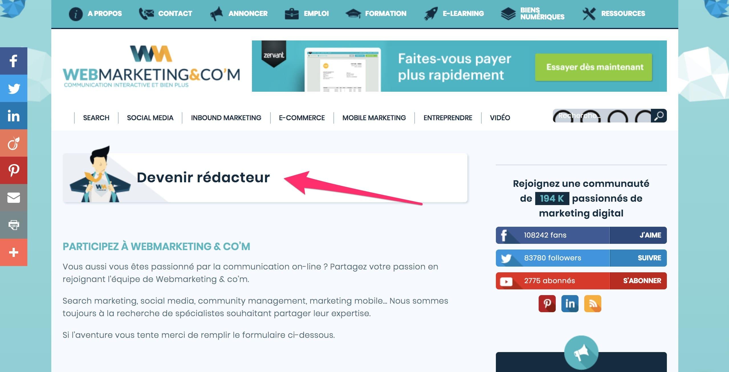 Promotion de votre entreprise - partez du Web!